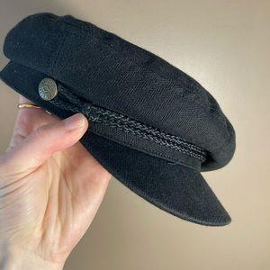 Brixton black cotton hat